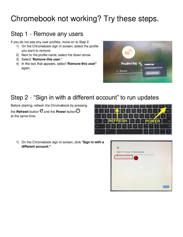 Chromebook login troubleshooting